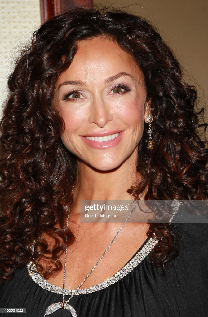 Actress Sofia Milos attends the Eagle & Badge Foundation Gala Honors at the Hyatt Regency Century Plaza on August 21, 2010 in Century City, California.