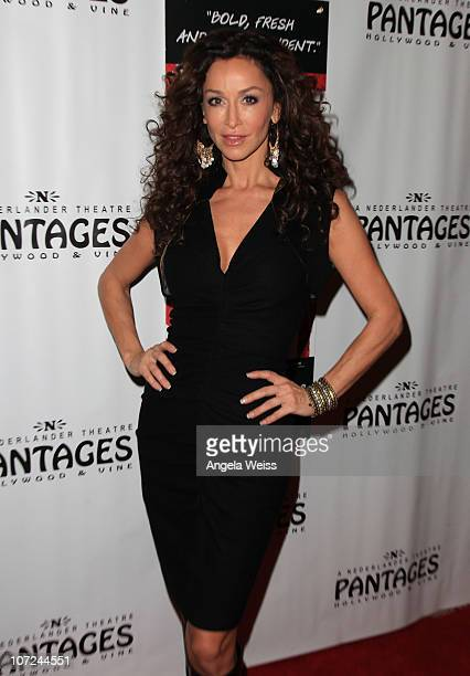 Actress Sofia Milos attends the opening night of 'West Side Story' at the Pantages Theatre on December 1 2010 in Hollywood California