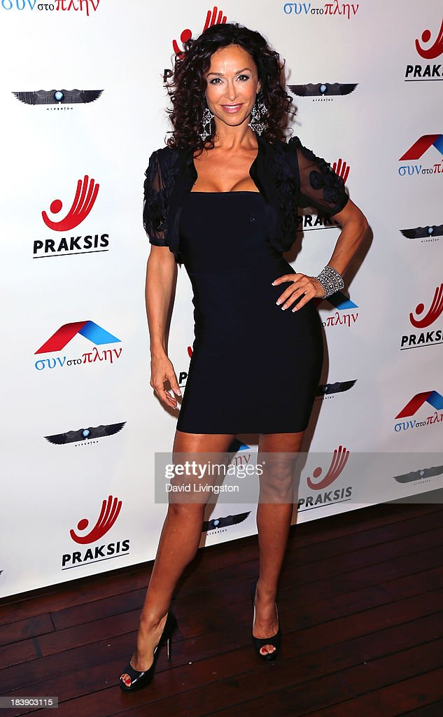 Actress Sofia Milos attends the Philhellenes Gala at SkyBar at the Mondrian Los Angeles on October 9, 2013 in West Hollywood, California.
