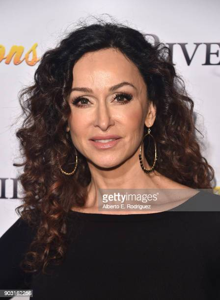 Actress Sofia Milos attends the premiere of RiverRock Films' Bachelor Lions at The ArcLight Hollywood on January 9 2018 in Hollywood California