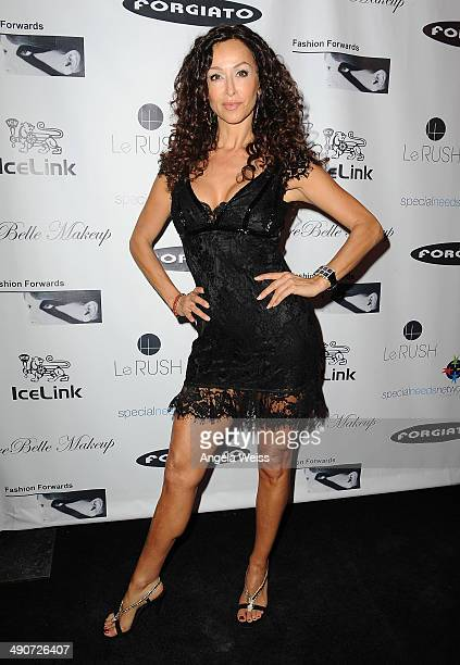 Actress Sofia Milos attends the #TheLinkParty by IceLink hosted by Ronda Rousey and Sponsored by Fashion Forwards Forgiato Rebelle Makeup and LeRush...