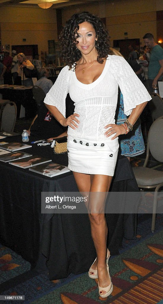 Actress Sofia Milos participates in The Hollywood Show held at Burbank Airport Marriott Hotel & Convention Center on August 5, 2012 in Burbank, California.