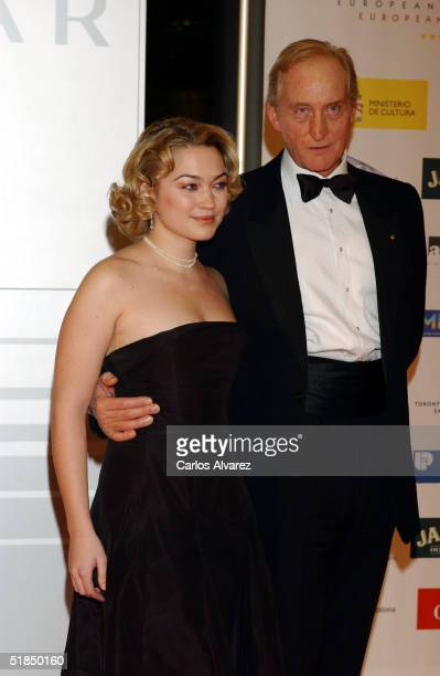 """Actress Sofia Myles and actor Charles Dance arrive at the """"European Film Awards 2004"""" on December 11, 2004 at The Forum in Barcelona, Spain. The..."""