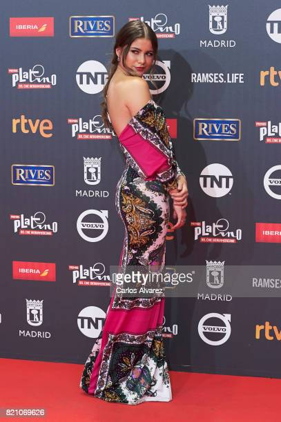 Actress Sofia Reyes attends the Platino Awards 2017 photocall at the La Caja Magica on July 22 2017 in Madrid Spain