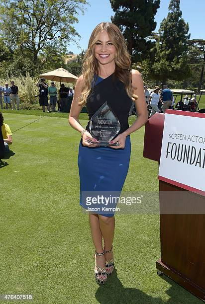 Actress Sofia Vergara accepts the Inaugural Actors Inspiration Award at the Annual LA Golf Classic Fundraiser on June 8 2015 in Burbank California