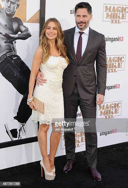 Actress Sofia Vergara and actor Joe Manganiello arrive at the Los Angeles Premiere 'Magic Mike XXL' at TCL Chinese Theatre IMAX on June 25 2015 in...