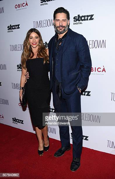 Actress Sofia Vergara and actor Joe Manganiello arrive at the premiere of Starz Digital Media's 'Tumbledown' at the Aero Theatre on February 1 2016...
