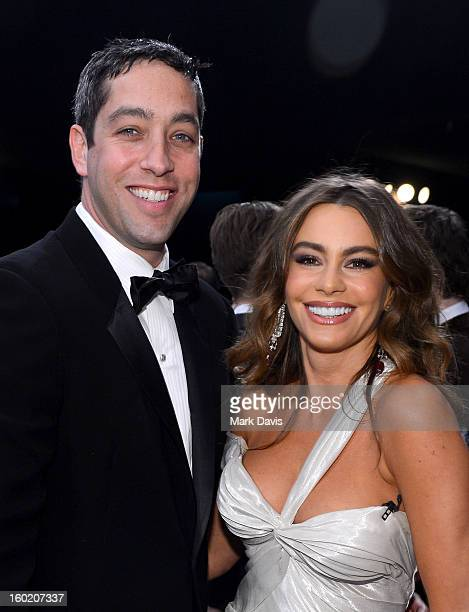 Actress Sofia Vergara and Nick Loeb attend the 19th Annual Screen Actors Guild Awards held at The Shrine Auditorium on January 27 2013 in Los Angeles...