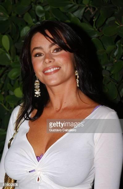 Actress Sofia Vergara appears outside Metro Lounge December 28 2004 in Miami Beach Florida