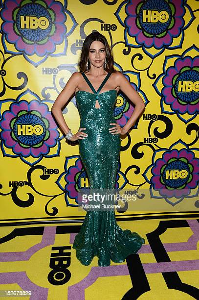Actress Sofia Vergara arrives at HBO's Annual Emmy Awards Post Awards Reception at the Pacific Design Center on September 23 2012 in West Hollywood...