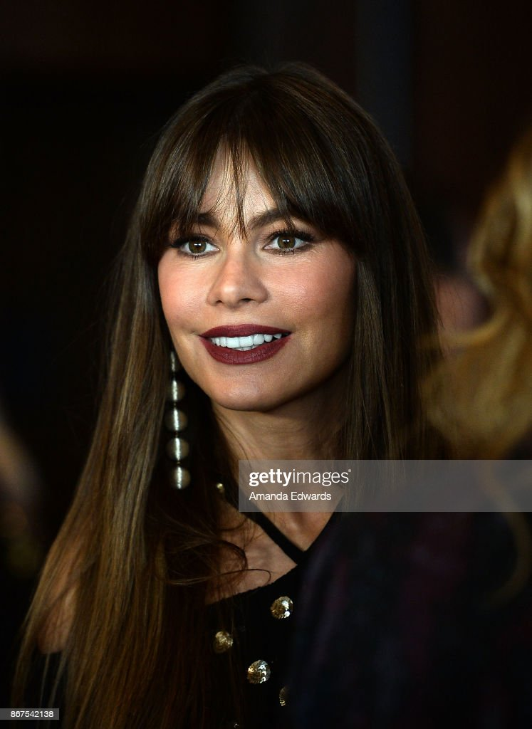Actress Sofia Vergara arrives at Peggy Albrecht Friendly House's 28th Annual Awards Luncheon at The Beverly Hilton Hotel on October 28, 2017 in Beverly Hills, California.