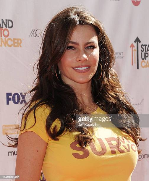 Actress Sofia Vergara arrives at Stand Up To Cancer at Sony Pictures Studios on September 10 2010 in Culver City California