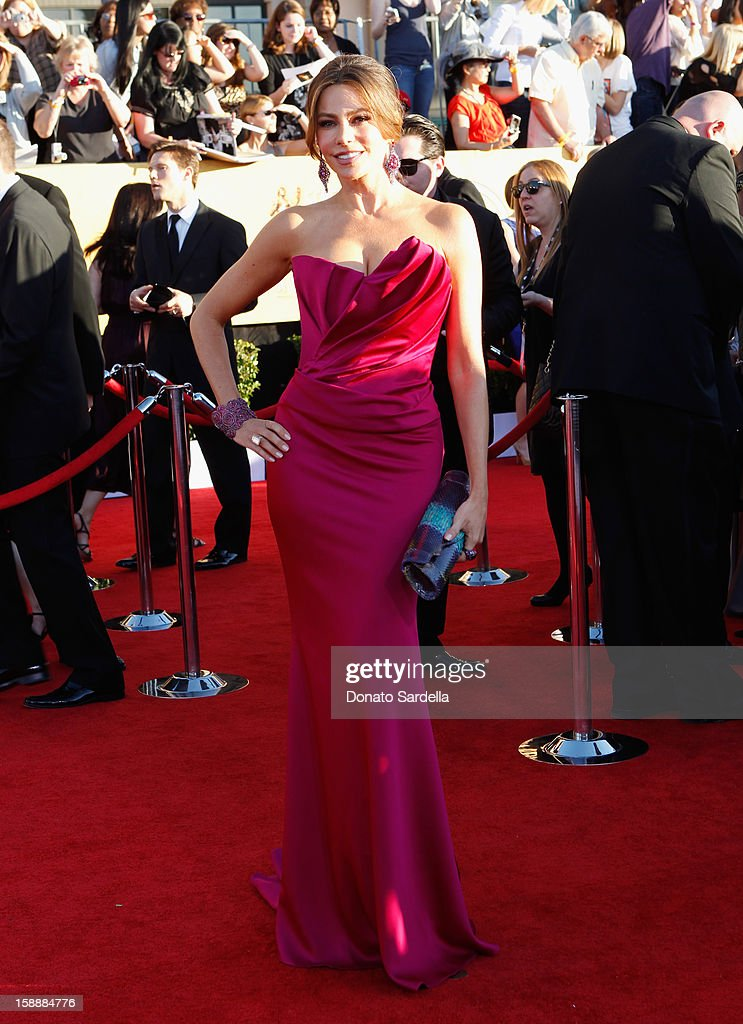 Actress Sofia Vergara arrives at the 18th Annual Screen Actors Guild Awards held at The Shrine Auditorium on January 29, 2012 in Los Angeles, California.