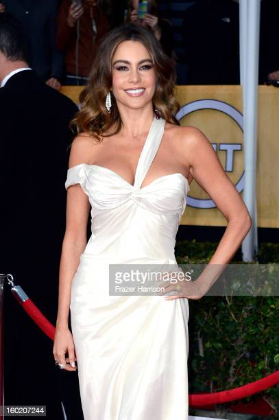 Actress Sofia Vergara arrives at the 19th Annual Screen Actors Guild Awards held at The Shrine Auditorium on January 27 2013 in Los Angeles California