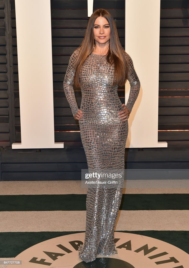 Actress Sofia Vergara arrives at the 2017 Vanity Fair Oscar Party Hosted By Graydon Carter at Wallis Annenberg Center for the Performing Arts on February 26, 2017 in Beverly Hills, California.