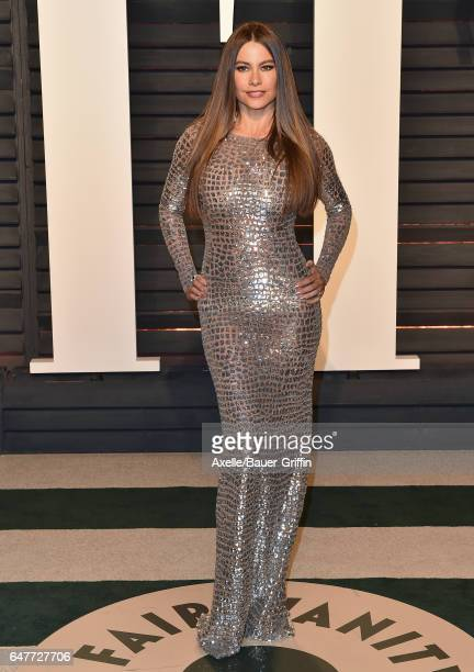 Actress Sofia Vergara arrives at the 2017 Vanity Fair Oscar Party Hosted By Graydon Carter at Wallis Annenberg Center for the Performing Arts on...