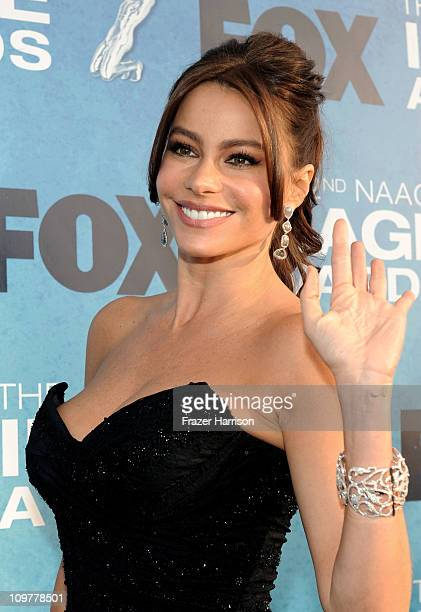 Actress Sofia Vergara arrives at the 42nd NAACP Image Awards held at The Shrine Auditorium on March 4 2011 in Los Angeles California