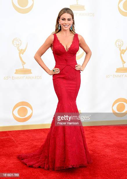 Actress Sofia Vergara arrives at the 65th Annual Primetime Emmy Awards held at Nokia Theatre LA Live on September 22 2013 in Los Angeles California