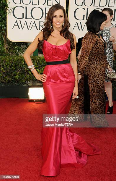 Actress Sofia Vergara arrives at the 68th Annual Golden Globe Awards held at The Beverly Hilton hotel on January 16 2011 in Beverly Hills California