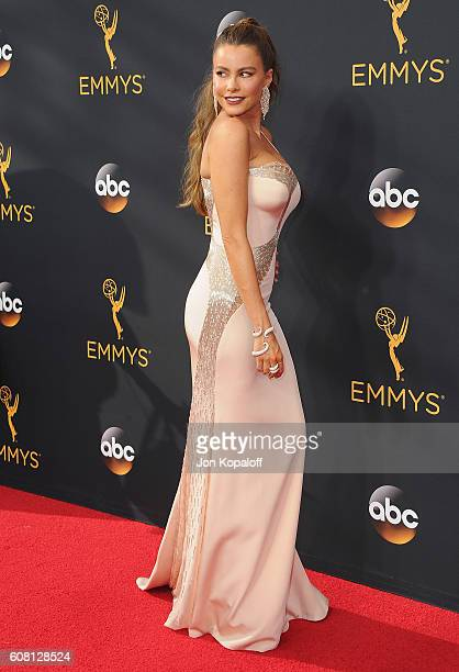 Actress Sofia Vergara arrives at the 68th Annual Primetime Emmy Awards at Microsoft Theater on September 18 2016 in Los Angeles California
