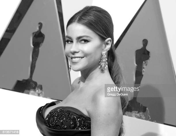 Actress Sofia Vergara arrives at the 88th Annual Academy Awards at Hollywood Highland Center on February 28 2016 in Hollywood California
