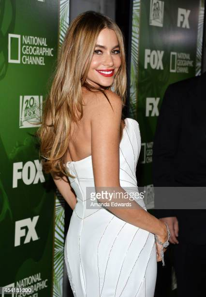 Actress Sofia Vergara arrives at the FOX 20th Century FOX Television FX Networks and National Geographic Channel's 2014 Emmy Award Nominee...