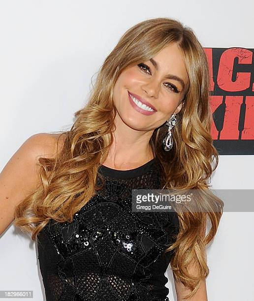 "Actress Sofia Vergara arrives at the Los Angeles premiere of ""Machete Kills"" at Regal Cinemas L.A. Live on October 2, 2013 in Los Angeles, California."