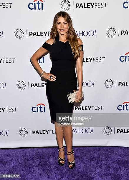Actress Sofia Vergara arrives at The Paley Center For Media's 32nd Annual PALEYFEST LA 'Modern Family' event at the Dolby Theatre on March 14 2015 in...