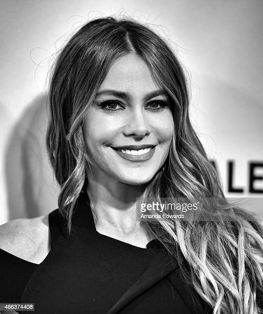 Actress Sofia Vergara arrives at The Paley Center For Media's 32nd Annual PALEYFEST LA Modern Family event at the Dolby Theatre on March 14 2015 in...