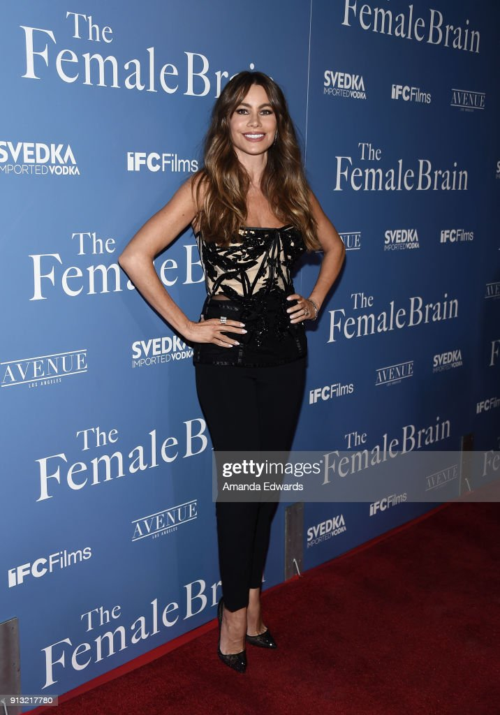 Actress Sofia Vergara arrives at the premiere of IFC Films' 'The Female Brain' at the ArcLight Hollywood on February 1, 2018 in Hollywood, California.