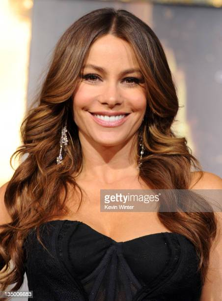 Actress Sofia Vergara arrives at the premiere of Warner Bros Pictures' 'New Year's Eve' at Grauman's Chinese Theatre on December 5 2011 in Hollywood...