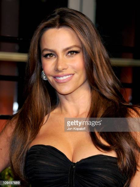 Actress Sofia Vergara arrives at the Vanity Fair Oscar Party held at Sunset Tower on February 27, 2011 in West Hollywood, California.