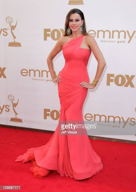 Actress Sofia Vergara arrives to the 63rd Primetime Emmy Awards at the Nokia Theatre LA Live on September 18 2011 in Los Angeles United States