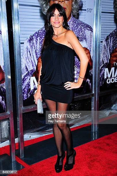 Actress Sofia Vergara attends a screening of Tyler Perry's Madea Goes to Jail at the AMC Loews Lincoln Center on February 18 2009 in New York City