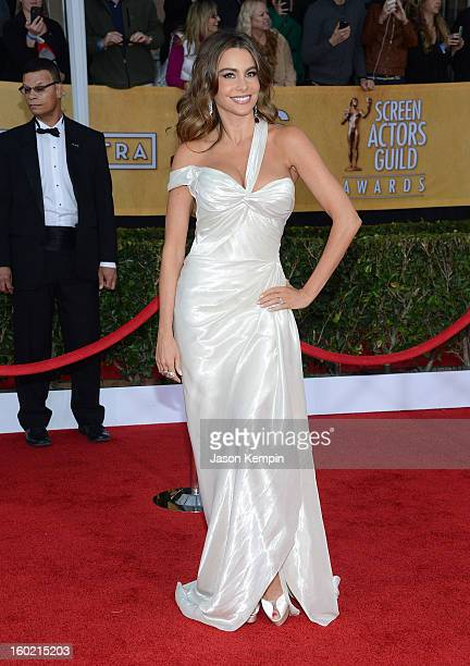 Actress Sofia Vergara attends the 19th Annual Screen Actors Guild Awards at The Shrine Auditorium on January 27 2013 in Los Angeles California