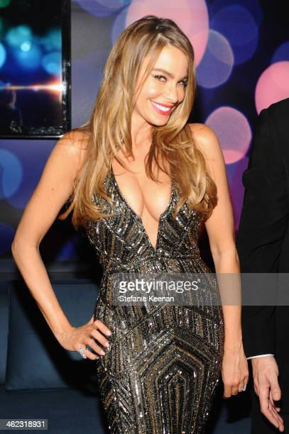 Actress Sofia Vergara attends the 2014 InStyle And Warner Bros. 71st Annual Golden Globe Awards Post-Party at The Beverly Hilton Hotel on January 12,...