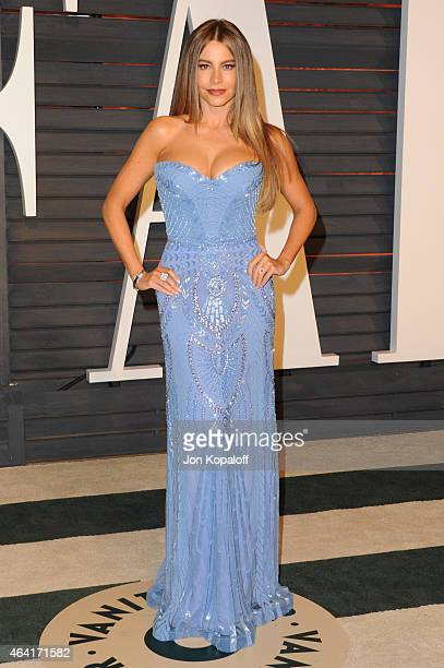 Actress Sofia Vergara attends the 2015 Vanity Fair Oscar Party hosted by Graydon Carter at Wallis Annenberg Center for the Performing Arts on...