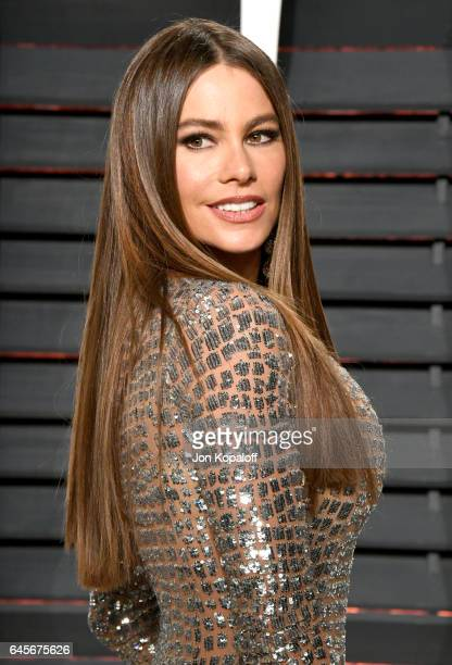 Actress Sofia Vergara attends the 2017 Vanity Fair Oscar Party hosted by Graydon Carter at Wallis Annenberg Center for the Performing Arts on...