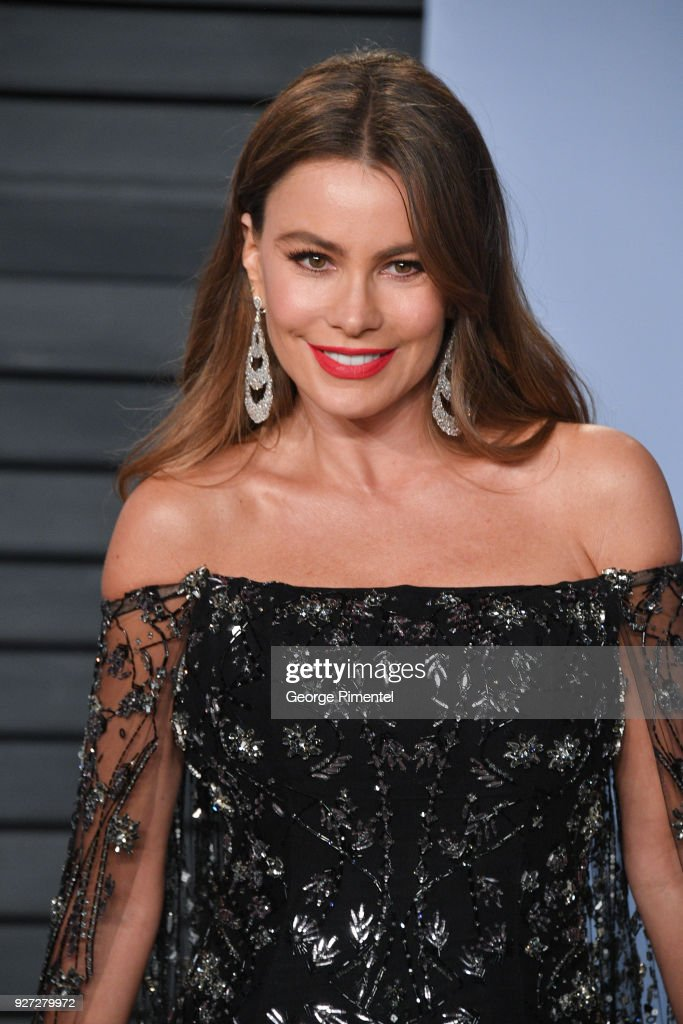 Actress Sofia Vergara attends the 2018 Vanity Fair Oscar Party hosted by Radhika Jones at Wallis Annenberg Center for the Performing Arts on March 4, 2018 in Beverly Hills, California.