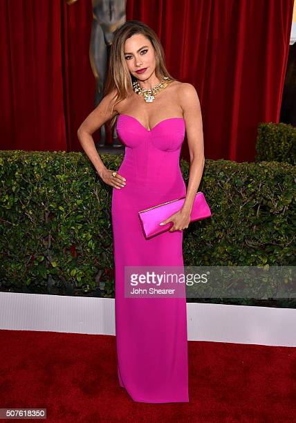 Actress Sofia Vergara attends the 22nd Annual Screen Actors Guild Awards at The Shrine Auditorium on January 30 2016 in Los Angeles California
