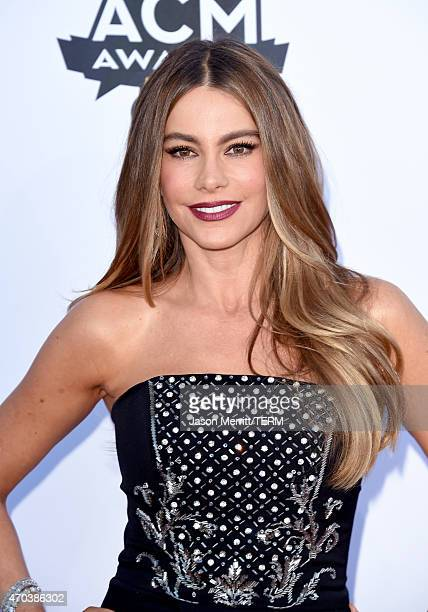 Actress Sofia Vergara attends the 50th Academy of Country Music Awards at ATT Stadium on April 19 2015 in Arlington Texas