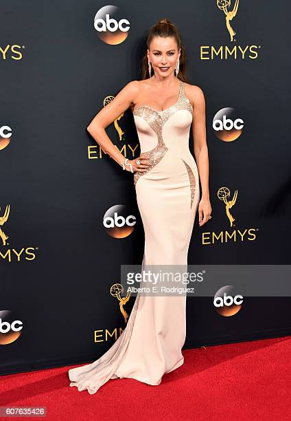 Actress Sofia Vergara attends the 68th Annual Primetime Emmy Awards at Microsoft Theater on September 18 2016 in Los Angeles California