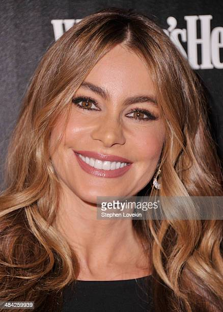 Actress Sofia Vergara attends the Cinema Society Women's Health screening of Millennium Entertainment's 'Fading Gigolo' at SVA Theatre on April 11...