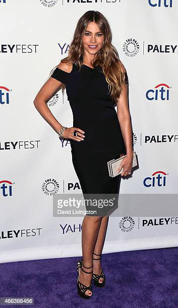 Actress Sofia Vergara attends the Modern Family event at The Paley Center For Media's 32nd Annual PALEYFEST LA at the Dolby Theatre on March 14 2015...
