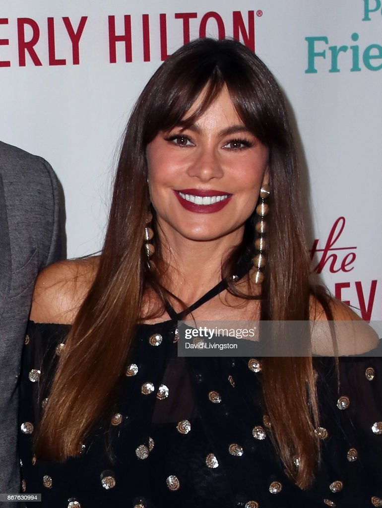 Actress Sofia Vergara attends the Peggy Albrecht Friendly House's 28th annual awards luncheon at The Beverly Hilton Hotel on October 28, 2017 in Beverly Hills, California.