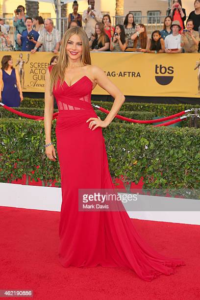 Actress Sofia Vergara attends TNT's 21st Annual Screen Actors Guild Awards at The Shrine Auditorium on January 25 2015 in Los Angeles California...