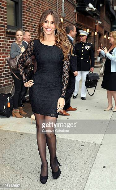 Actress Sofia Vergara departs 'Late Show With David Letterman' at the Ed Sullivan Theater on September 22 2011 in New York City