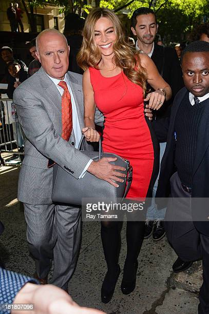 Actress Sofia Vergara enters the Live With Kelly And Michael taping at the ABC Lincoln Center Studios on September 25 2013 in New York City