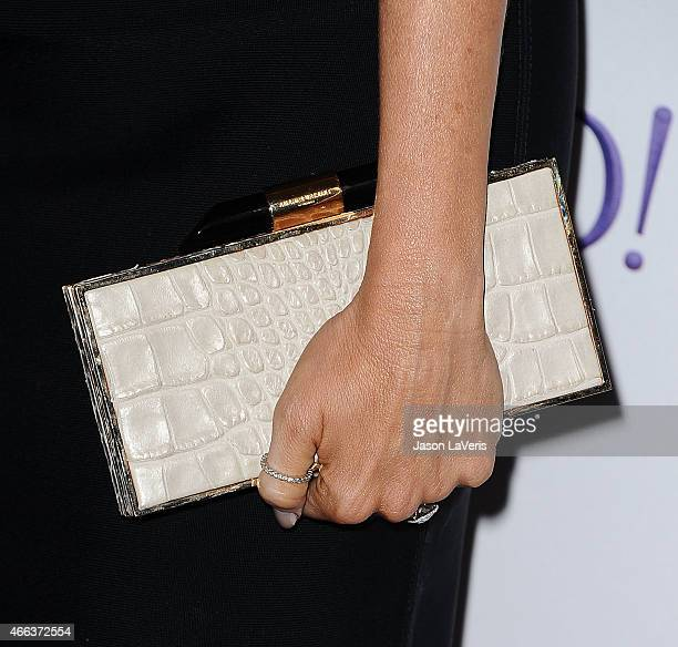 Actress Sofia Vergara handbag detail attends the Modern Family event at the 32nd annual PaleyFest at Dolby Theatre on March 14 2015 in Hollywood...