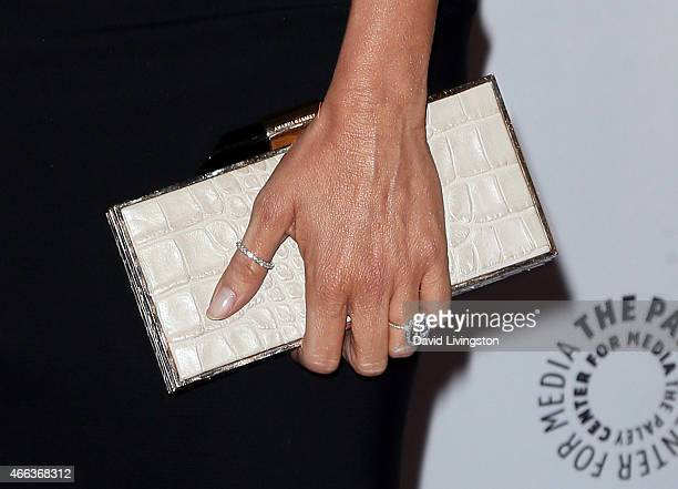 Actress Sofia Vergara purse detail attends the Modern Family event at The Paley Center For Media's 32nd Annual PALEYFEST LA at the Dolby Theatre on...